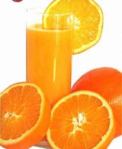Glass of orange juice (red)